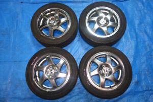 """JDM GSR Blades Rims Wheels 15"""" 4x100 Civic Integra 4x100 15x6"""