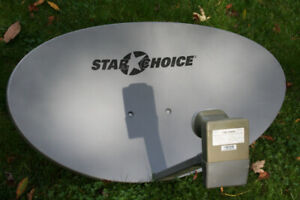 Shaw Direct Satellite Dish, Quad output Ku band LNB