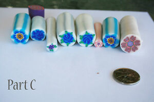8 original unbaked polymer clay canes made by artist Kitchener / Waterloo Kitchener Area image 1