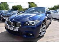2015 15 BMW 5 SERIES 2.0 520D M SPORT 4D AUTO-1 OWNER-BLACK DAKOTA LEATHER-PROFE