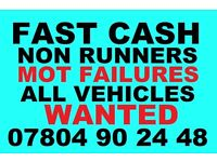 Ò78Ò4 9Ò2448 WANTED CARS VANS FOR CASH SCRAP BUY YOUR SELL MY SCRAPPING fast