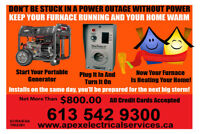 KEEP YOUR FURNACE ON DURING  POWER OUTAGES $800.