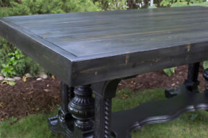 Free delivery - Rustic industrial / farmhouse dining table