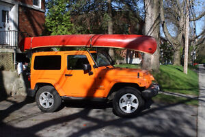 Canoe carrier for Jeep Wrangler