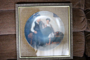 Norman Rockwell framed plate, just reduced