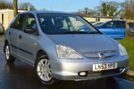 image for 2003 Honda Civic 1.6 i-VTEC Inspire S 5dr Hatchback Petrol Automatic