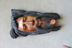 Wood Carving from Jamaica. Three foot and heavy!!  As seen.