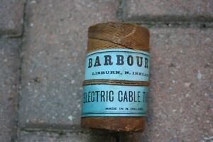 "Vintage Barbour's 6"" Electric Cable Thread (Lisburn, N. Ireland)"