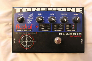 FT/FS Radial Tonebone 12AX7 TUBE Distortion Pedal w/Adapter
