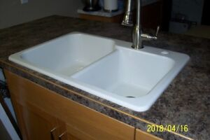 used white abs sink