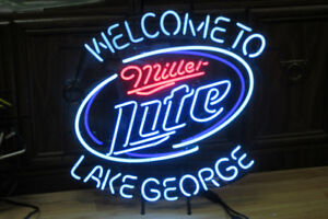 Neon  Miller lite. Welcome to Miller Lite Lake georges. Negotiab