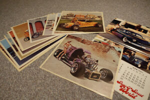 Vintage 1970's / 1980's Hot Rod Pin Up Posters