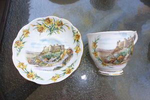 China cups saucers LOT (9) Royal Albert Queen Anne Elizabethan