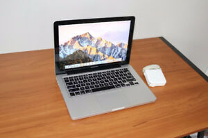 "Fast and Clean i5 Macbook pro 13"". 4gb all updates and apps"