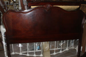 Antique Burled Walnut Bed Frame (can use with double or queen)