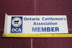 ONTARIO CATTLEMEN'S DOUBLE SIDED FLANGE METAL SIGN