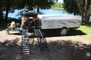 """2008 Palomino Tent trailer / toy hauler with 15"""" Mag wheels"""