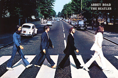 The Beatles Abbey Road Poster Print 24X36 Rock Music John Lennon Paul McCartney