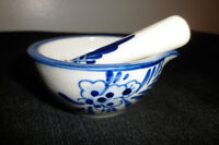 Hand Painted Delft Blue Pill Crusher