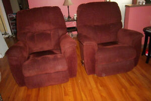 TWIN LAZYBOY ROCKER/RECLINERS( ONE YEAR OLD)