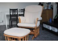 Nursing/rocking chair with stool Dutaillier
