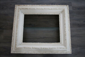 ANTIQUE LARGE PICTURE FRAME SHADOW BOX