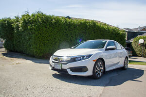 [LEASE TAKEOVER] 2016 Honda Civic EX Sedan - White