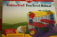Hamsters cage, hideout, food, bedding, and toys for sale