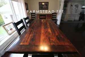 Barnwood Tables - Locally Made from Reclaimed Hemlock & Pine London Ontario image 5