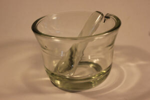 Antique Glass Pestle & Mortar (VIEW OTHER ADS)