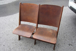 Antique Theatre Double Chair