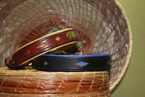 HANDMADE CUSTOM LEATHER DOG COLLARS,LEASHES, BELTS & HARNESS