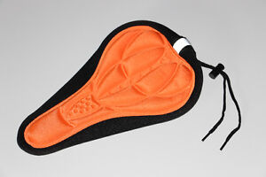 BICYCLETTE-BANC/BIKE SEAT-SILICONE GEL CONFORT-ORANGE (NEUF/NEW)