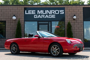 2002 Ford Thunderbird TORCH RED Convertible