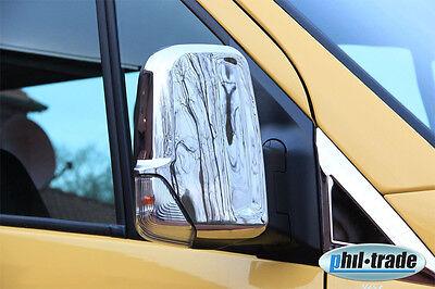 1 Set Edelstahl Spiegel Kappen V2A für Mercedes Sprinter W906 VW Crafter ab 2006