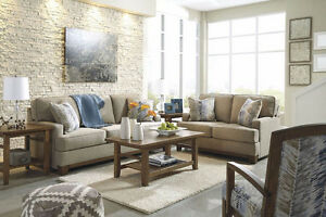 NEW Ashley Hillsway Pebble Sofa and Loveseat