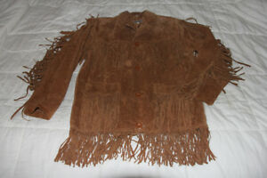 Men's Suede Fringe Western Jacket - Not Worn, As New
