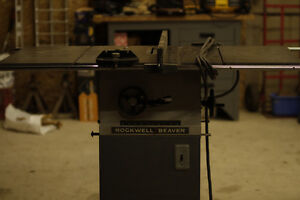 """Rockwell / Beaver 10"""" Table saw,"""