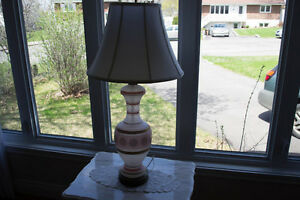 Antique pink lamp