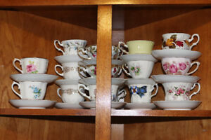 Tea Cups galore - a variety of fine China cups