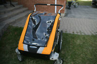 Chariot double stroller with X-Country ski attachment