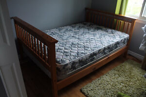 Double bed frame, box and mattress
