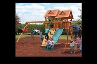 Swing set treehouse slide balancoire