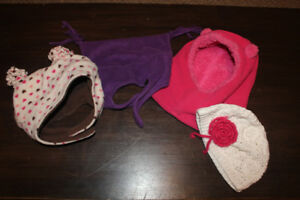 4x Toddler Winter Hats 12-24 months