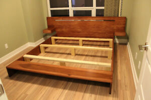 King-size Platform Bed & Mattress