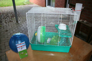 complete hamster cage and accessories for dwarf or syria hamster