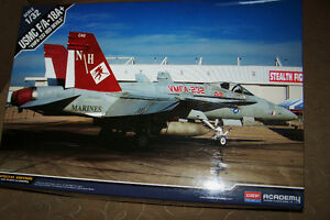 ACADEMY BIG 1/32 SCALE USMC F/A-18A+ RED DEVILS FIGHTER JET NEW