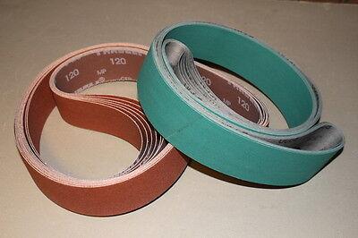 2 x 72 Sanding Belt Knifemaker Variety Kit Ceramic & A/O  (16pc) #1