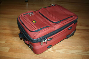 Via Rail Carry on luggage in burnt orange purchased at the Bay Kitchener / Waterloo Kitchener Area image 8