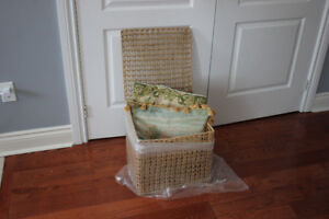 Large Wicker storage basket/chest very good condition